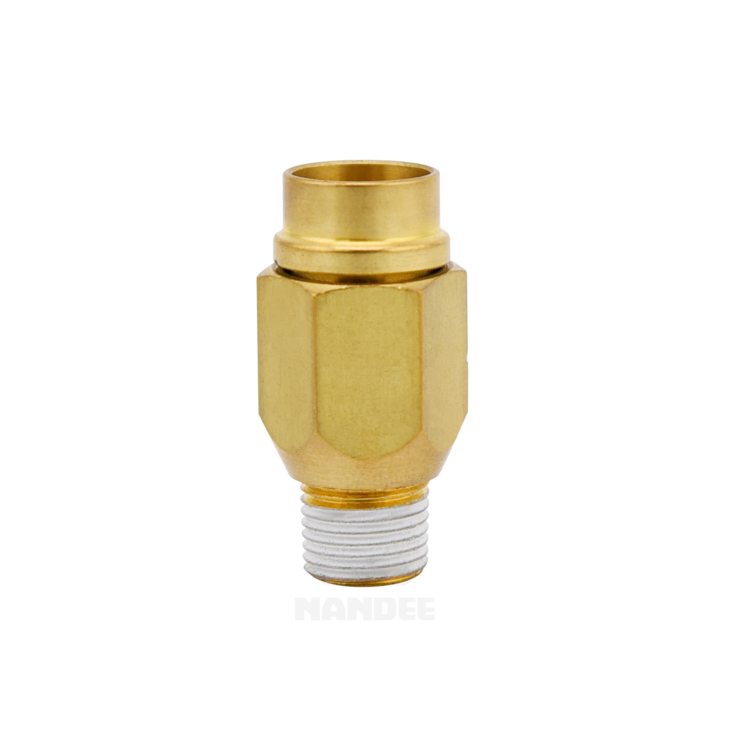 ข้อต่อฟิตติ้งทองเหลือง (C-ring+Cover) Touch connector fuji h type