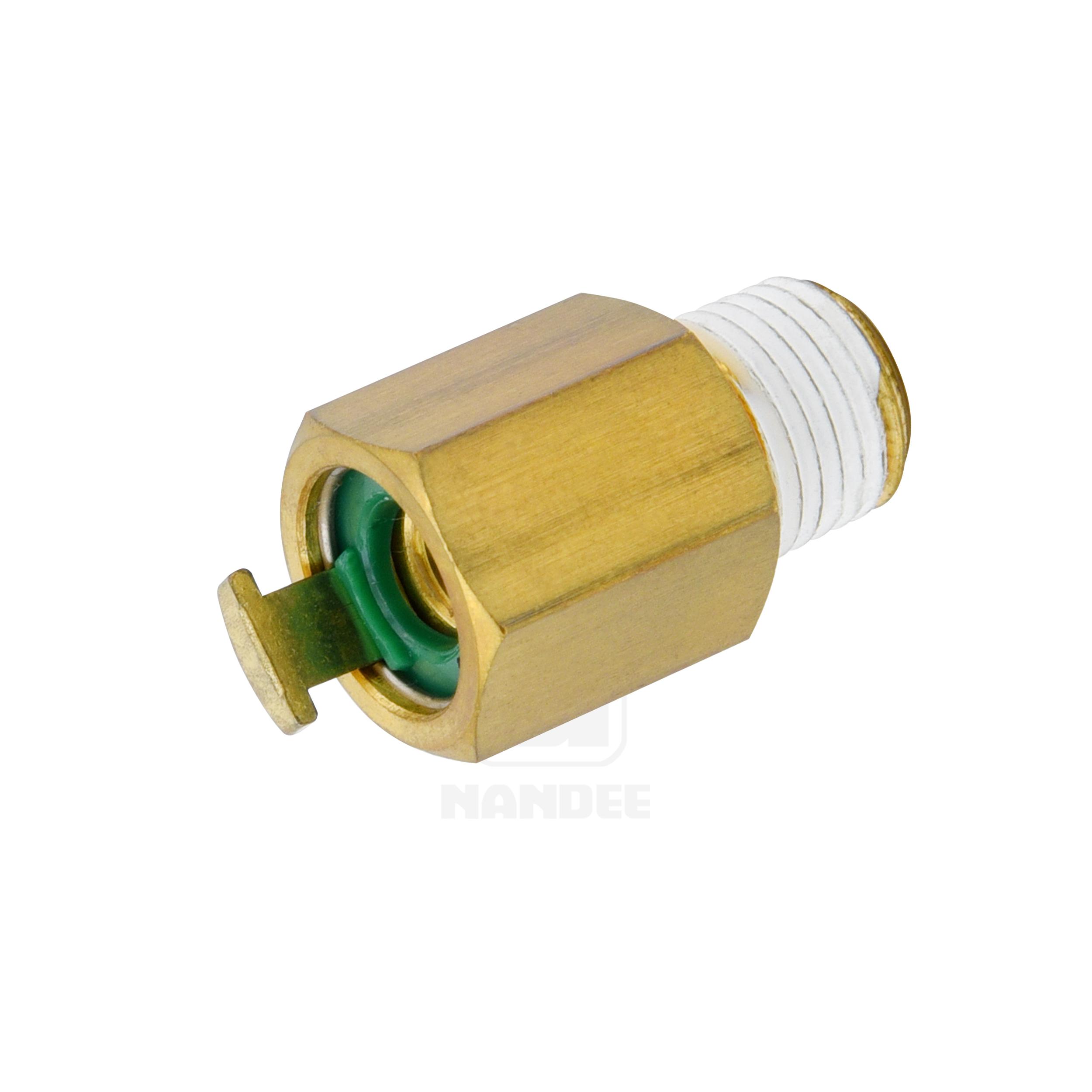 ข้อต่อฟิตติ้งทองเหลือง (Spring lock) Touch connector